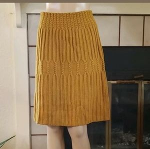Anthropologie Cable Knit Skirt Size 5 S Wool Blend